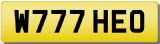 THEO W Private Registration Cherished Number Plate THEO THEODORA THEODORE